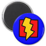 Red Blue and Yellow Lightning Bolt Fridge Magnets