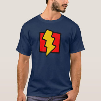 Red Blue and Yellow Lightning Bolt T-Shirt