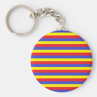 Red, Blue and Yellow Stripes Keychain