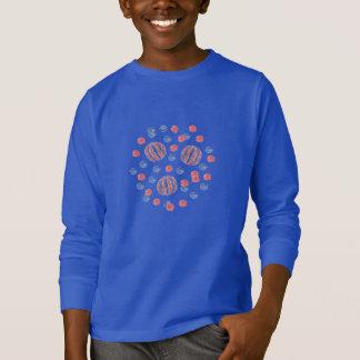 Red Blue Balls Kids' Long Sleeve T-Shirt