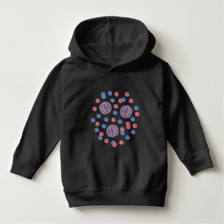 Red Blue Balls Toddler Pullover Hoodie