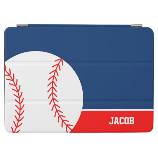 Red Blue Baseball Personalized Kids iPad Air Cover