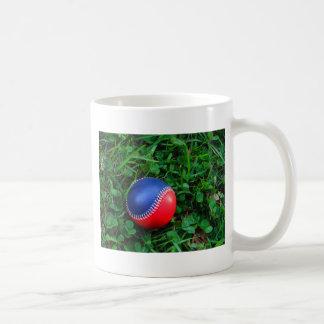 Red & Blue Baseball with White Stitching Classic White Coffee Mug