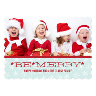 RED BLUE, BE MERRY | HOLIDAY PHOTO CARD