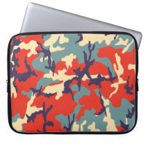 Red/Blue/Beige Camo Pattern 15