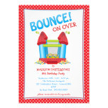 Red + Blue Bouncy House Birthday Party Invitation