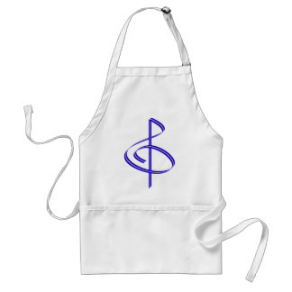 Red & Blue Brushstroke Treble Clef Adult Apron