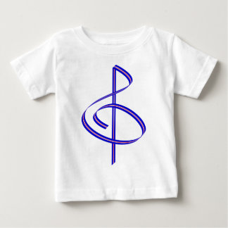 Red & Blue Brushstroke Treble Clef Baby T-Shirt