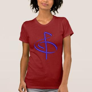 Red & Blue Brushstroke Treble Clef T Shirt