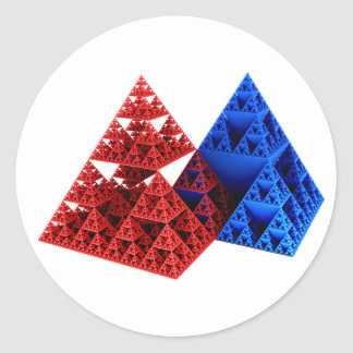 Red & Blue but NOT Khufu... Classic Round Sticker