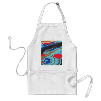 Red Blue Camouflage Adult Apron