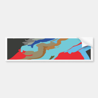 Red Blue Camouflage Bumper Sticker