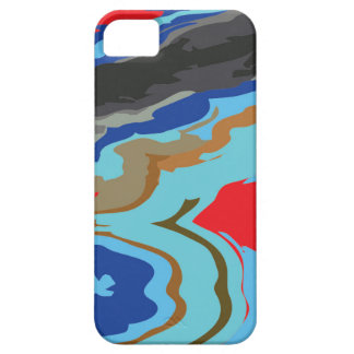 Red Blue Camouflage iPhone SE/5/5s Case