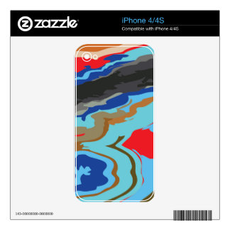 Red Blue Camouflage Skins For iPhone 4