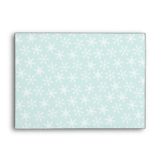 Red Blue Candy Canes and Snowflakes A7 Envelope