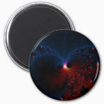 Red Blue Cells Fractal Art Magnet