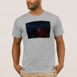 Red Blue Cells Fractal Art T-Shirt