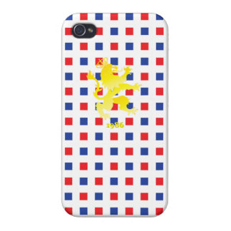 Red Blue Checkered Lion King iPhone 4 Case