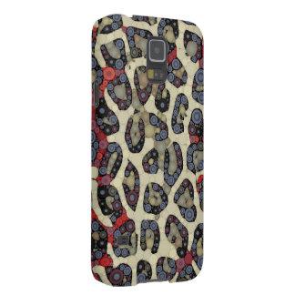 Red Blue Cheetah Circle Abstract Galaxy S5 Covers