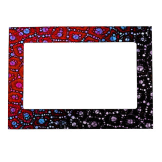 Red Blue Cheetah Magnetic Photo Frame