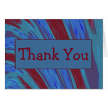 Red Blue Color Swish Abstract Thank You Card