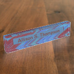 Red  Blue Color Swish Nameplate