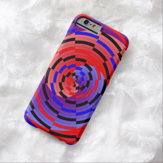 Red & Blue Counter Spiral Barely There iPhone 6 Case