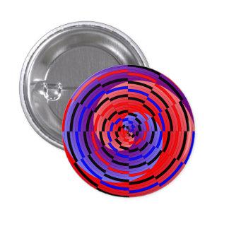 Red & Blue Counter Spiral 1 Inch Round Button