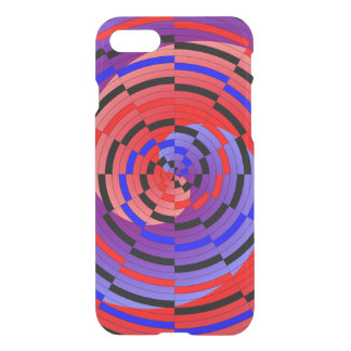 Red & Blue Counter Spiral by Kenneth Yoncich iPhone 8/7 Case