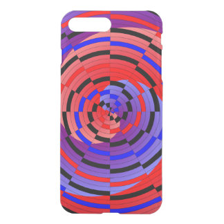 Red & Blue Counter Spiral by Kenneth Yoncich iPhone 8 Plus/7 Plus Case