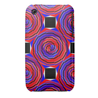 Red & Blue Counter Spiral Case-Mate iPhone 3 Case