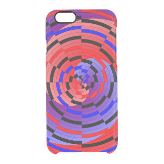 Red & Blue Counter Spiral Clear iPhone 6/6S Case