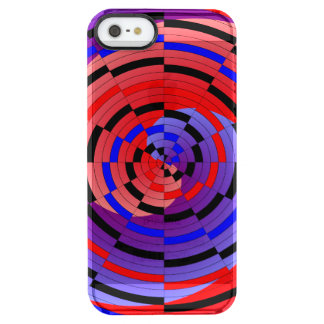 Red & Blue Counter Spiral Clear iPhone SE/5/5s Case