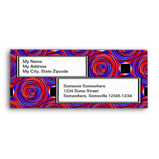 Red & Blue Counter Spiral Envelopes