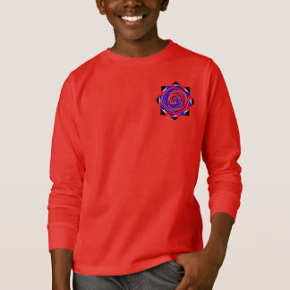 Red & Blue Counter Spiral Hoodie