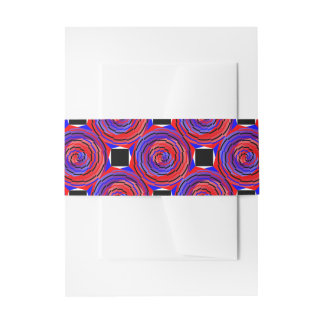 Red & Blue Counter Spiral Invitation Belly Band