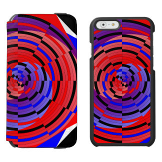 Red & Blue Counter Spiral iPhone 6/6s Wallet Case