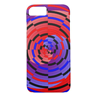 Red & Blue Counter Spiral iPhone 8/7 Case