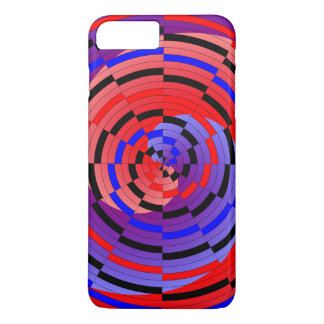 Red & Blue Counter Spiral iPhone 8 Plus/7 Plus Case