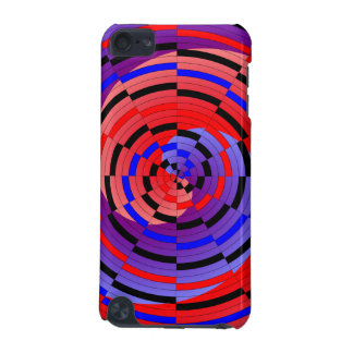 Red & Blue Counter Spiral iPod Touch (5th Generation) Cover