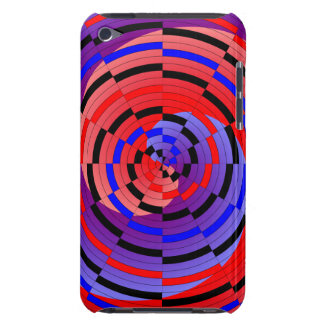 Red & Blue Counter Spiral iPod Touch Cover