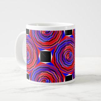 Red & Blue Counter Spiral Large Coffee Mug