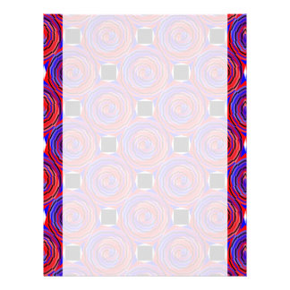 Red & Blue Counter Spiral Letterhead