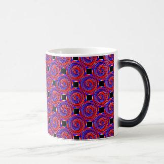 Red & Blue Counter Spiral Morphing Mug