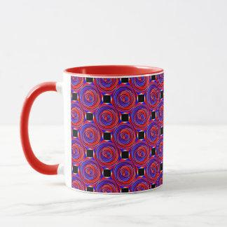 Red & Blue Counter Spiral Ringer Mug