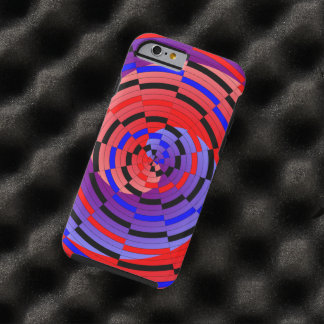 Red & Blue Counter Spiral Tough iPhone 6 Case