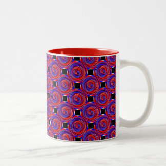 Red & Blue Counter Spiral Two-Tone Mug