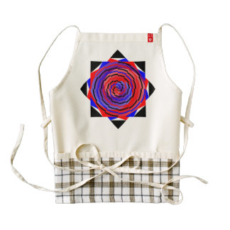 Red & Blue Counter Spiral Zazzle HEART Apron