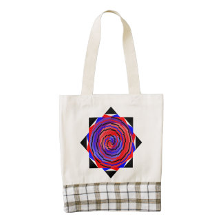 Red & Blue Counter Spiral Zazzle HEART Tote Bag