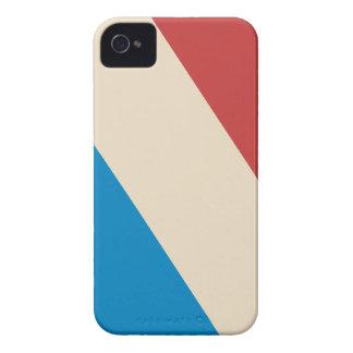 Red, Blue Cream Diagonal Stripes iPhone 4 Case-Mate Case